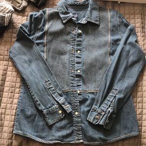 Vintage gap- jean long sleeve shirt